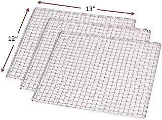 3-PACK Stainless Steel 12 x 13 Dehydrator Drying Trays Fits Samson SB106 and SB109 Dehydrators Also fits Magic Mill, Arom...