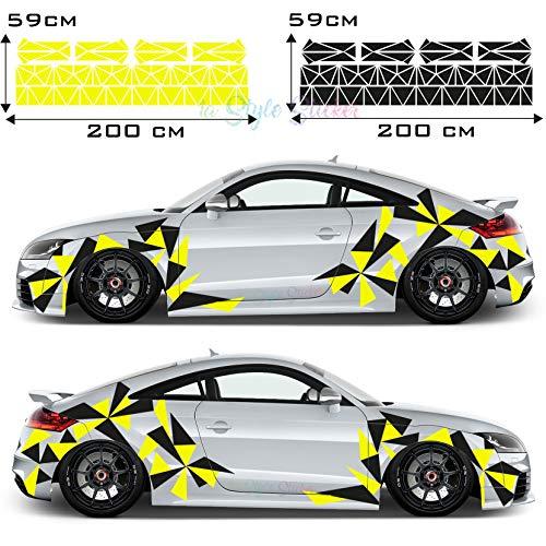 Aufkleber Auto Seitenaufkleber Dreiecke Sticker Camouflage 194 Teiliges Set - 2 Farbig Facelift