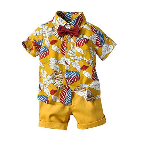 Ropa Bebé Niño Verano, K-Youth Conjuntos de Ropa para Niños Hawaii Ropa Bebe Recien Nacido Niño Polo Deportes Camiseta Mangas Corta Niño Camisa Tops T Shirt + Pantalones Cortos Conjunto Bebe Niño