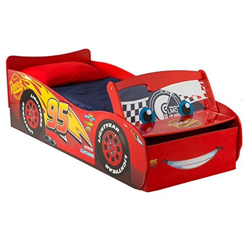 Hello Home Disney Cars Lighting McQueen Lettino, Legno, Rosso