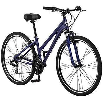 Schwinn Network 1.5 Womens Hybrid Bike 700c Wheels 15-inch Frame 21-Speed Alloy Linear Pull Brakes Navy