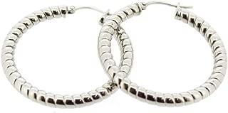 Edforce Women's Stainless Steel Twisted Rope Hoop Earrings, (30mm-50mm)