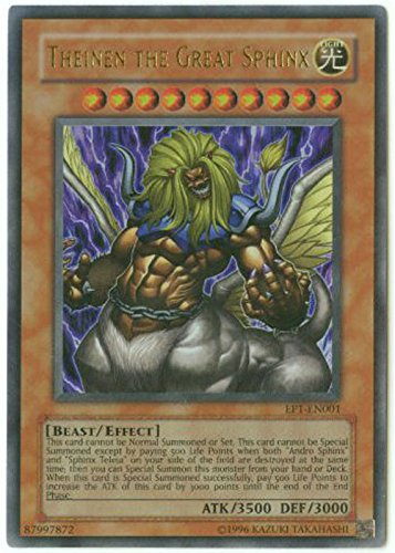 Yu-Gi-Oh! - Theinen The Great Sphinx (EP1-EN001) - Yu-Gi-Oh The Movie Promo Exclusive Pack - Promo Edition - Ultra Rare