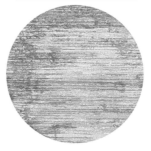 Teppich Teppich Vorleger Wohnzimmer Große Teppich Retro Sammlung Runde Brighton Vorleger 6' X 6' Ft Overdyed Distressed Teppich Moderne abstrakte Grau und Cyan & Yellow Design Moderne Wohn-Schlafzimme