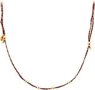Alex and Ani Women's Precious Threads Expandable Necklace Harvest Moon Braid, 14kt Gold Plated