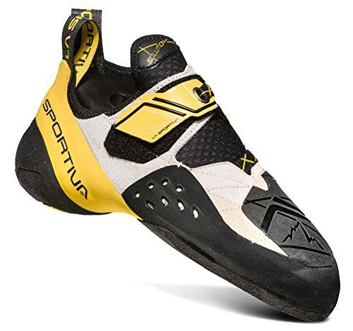 La Sportiva Men's Solution Climbing Shoe, White/Yellow, 39.5