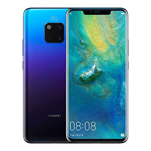 Huawei Mate 20 Pro SIM-Free Smartphone with 128GB storage and Android 9.0, UK Version - Twilight