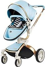 CQ El Cochecito De Bebé De Lujo El Alto Paisaje Los Cochecitos De Niño del Bebé para El Sistema del Viaje De Los Recién Nacidos La Carretilla del Bebé El Carro De Coche De Bebé Plegable,Blue