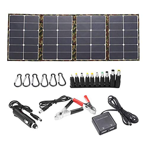 Senmubery Outdoor 120W 18V Solar Panel Folding Solar Charger Camping Solar Battery Cell Charger for Mobile Phone Computer
