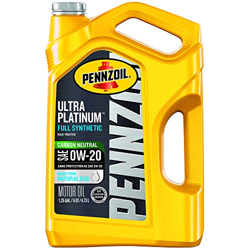 Pennzoil Ultra Platinum Full Synthetic 0W-20 Motor Oil (5-Quart, Pack of 1)