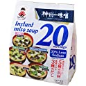20-Servings Miyasaka Instant Miso Soup 5 Flavors Variety Pack