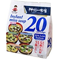 20-Servings Miyasaka Instant Miso Soup 5 Flavors Variety Pack