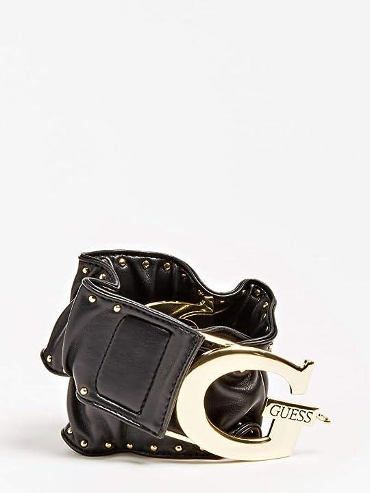 Cintura elastica guess con micro borchie applicate e maxi chiusura g in metallo BW7318P0260