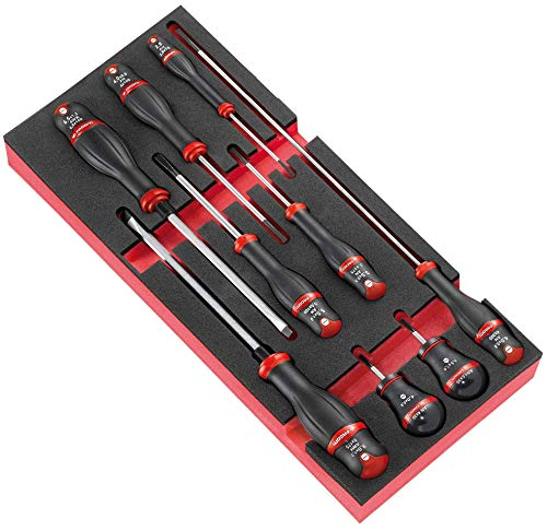 Facom MODM.AT4 PROTWIST® Schraubenmodule, 9 Stück, Schaumstoffplatte – 900 g