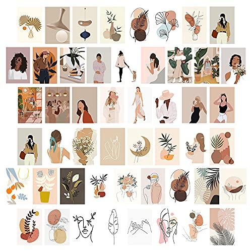 50 STKS Muur Collage Kit (4×6) Inch10x15cm Slaapkamer Boho Muur Art Collage Foto, Trendy Decor Esthetische Poster, Dorm…