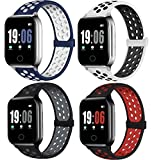 ElaikementSport Band Compatible with Watch Bands 38mm 40mm Women Men, Breathable Sporty Replacement Wrist Strap Compatible for Watch Series SE/6/5/4/3/2/1 All Various Styles, 38/40mm M/L -4PACK