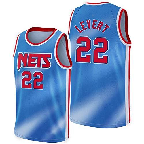 ZGRW Jersey De Baloncesto De Levert, Nets 2# 2021 New Temporada City Edition Jersey, Gym Chaleco Deportivo Top Ropa Jersey Shirt Blue-XL