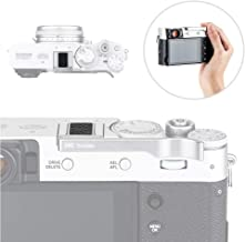 JJC Metal Thumbs Up Grip for Fuji Fujifilm X100V X100F & X-E3 with Hot Shoe Cover Protector Not Interfere with Controls of Camera -Silver