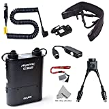 Fomito Godox PB960 Kit de batterie d'alimentation pour flash prolongé pour Nikon SB910, SB900, SB800, SB28 EURO, SB28DX, SB80DX, pour AD600 AD360 II AD180, pour téléphone portable Noir