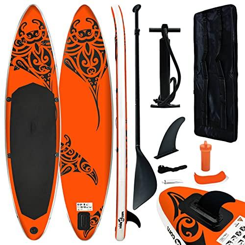 Festnight Accesorios inflables, Tablas de Paddle Surf, Tablas de Paddle Surf inflables, Accesorios inflables, Kits de Tablas de Surf 305 x 76 x 15 cm