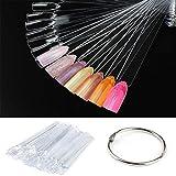 CINEEN - Esmalte de uñas, 50 unidades, diseño de puntas falsas para uñas, para práctica vanish