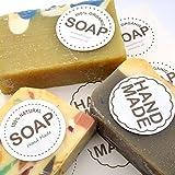 Wakehurst Handgemachte Seife Papier Aufkleber für Seife fift Wrap Geschenk Seifenkisten 5 Blatt 30...
