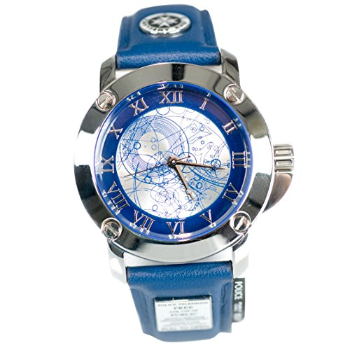 Doctor Who Watch - Ladies Deluxe Tardis Analog Watch with Leather Band, Stainless Steel Casing & Display Box