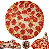 Pizza Wrap Blanket Adult 80 Inch,BurritosBlanket Tortilla Throw Blankets Towel for Couch Sofa or Bed