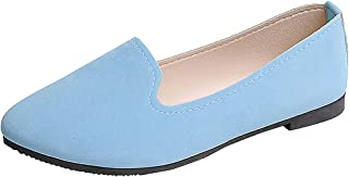 👍ONLY TOP👍 Women's Classic Flats Memory Foam Cushioned Soft Daily Slip-on Casual Sneaker Flat Shoes
