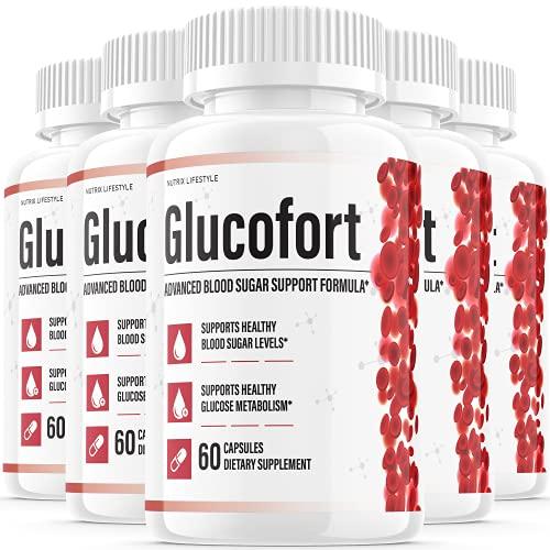 (5 Pack) Glucofort Insulin Natural Diabetes Supplement Support Glucofortal Blood Sugar para Diabetes Polonia Adulis Izulina (300 Capsules)