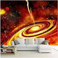 Xbwy 装飾壁画壁紙夢赤宇宙天の川背景壁壁画リビングルームテレビソファキッズベッドルーム-350X250Cm