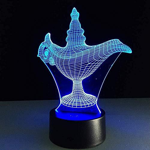 3D-Lampe Weihnachtsgeschenk Nachtlicht Tischlampe Touch-Schalter Tischdekoration Lampen Acryl Weinglas