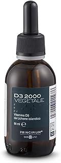BIOS LINE Principium D3 2000 Vegetale, Integratore di vitamina d3 estratto da Lichene Islandico, Integratore bambini e adu...