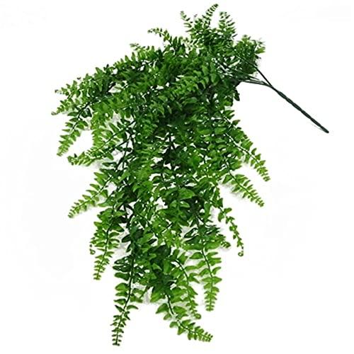 WanuigH Plantas Artificiales Plantas Artificiales Vines Faux Colgante Planta Helecho Vid para la Pared decoración de la Boda Verde Decora tu Hogar (Color : Verde, Size : One Size)