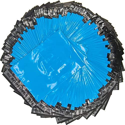 EJRange Poly Mailers - Bolsas de plástico para envíos (100 unidades, con diferentes tamaños y colores: 305 x 405 mm), color azul, 100 unidades