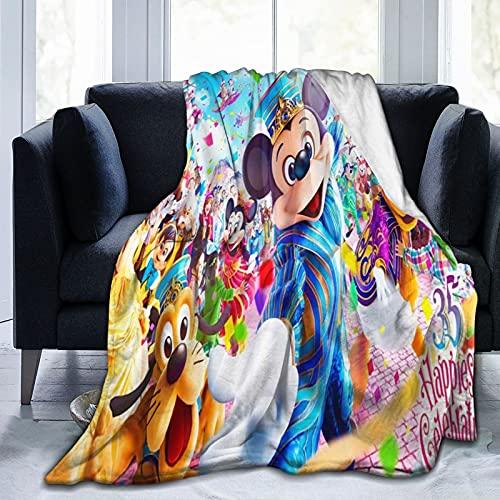 Disney Characters Manta de forro polar, ligera, transpirable, acogedora, 152 x 127 cm