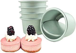 Aluminum Round Cheesecake Springform Pans Mini Chiffon Cake Baking Pan Performance Pan Non Stick Cake Mould Removable Bottom -2inch(Set of 5)