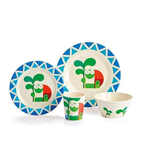 Dylan Kendall Home Turtle 4 Piece Kids Plate Set, Multicolor