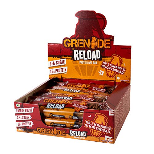 Grenade Reload Protein Oat Bar x 12 Bars - Billionaires Shortbread