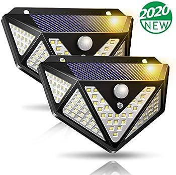 2-Pack Solar Powered Motion Sensor Lights for Garden