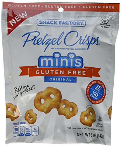 Pretzel Crisps Gluten Free Minis Case of 12 - 5 oz Bags (Original)