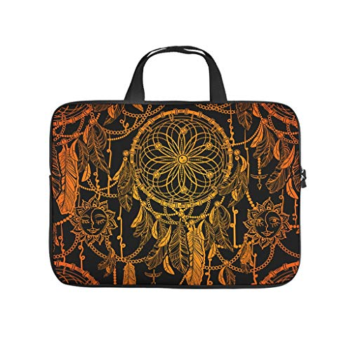Dreamcatcher Laptop Bag Waterproof High Capacity Zipper Multi-Functional Stationery 10-17 Inch Design for The Business Professional Travel Commuter White 13 Zoll