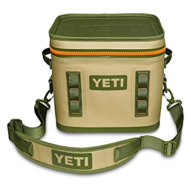 YETI Hopper Flip Portable Cooler (Flip 12 Field Tan/Blaze Orange)