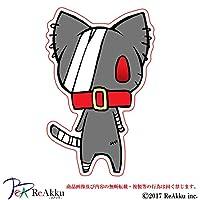 傷ネコさん-強粘着・UVカット・防水ステッカー (2.Mサイズ)