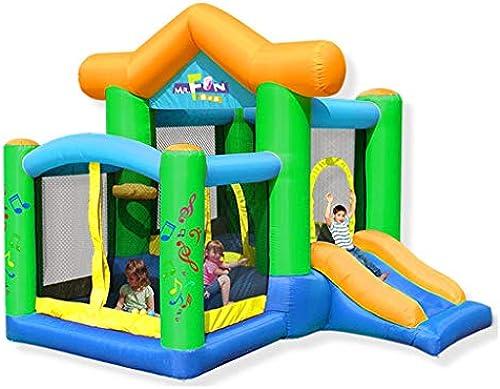 Aufblasbare Kinderschloss Kinderrutsche Outdoor Large Square Trampolin Outdoor-Kinderspielzeug Spielger  Spielplatz Fitnessger