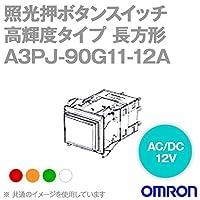 オムロン(OMRON) A3PJ-90G11-12AG 形A3P照光押ボタンスイッチ 高輝度タイプ (角胴形) (砲弾形LED) (緑) NN