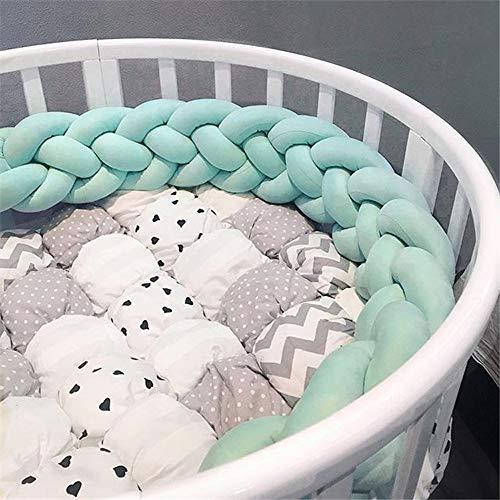 Literie de bébé décorative pour oreillers à nœuds doux Coussin tressé pour coussin de nœud de noeud de pare-chocs - Quatre rangées, couleur pure, cinq couleurs (1/2/3 m)