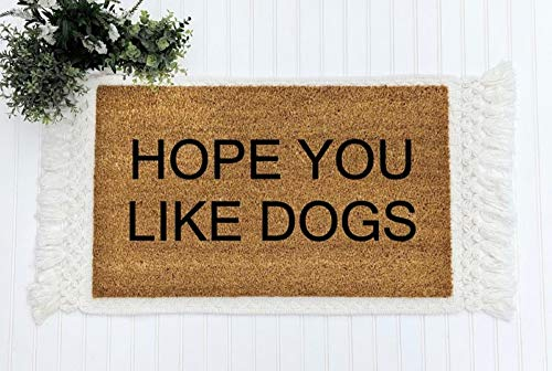 Yor242len - Zerbino Divertente con Scritta Hope You Like Dogs