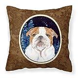 Carolines Treasures SS8447PW1414 Starry Night Englische Bulldogge Stoff-Kissen, groß, Mehrfarbig