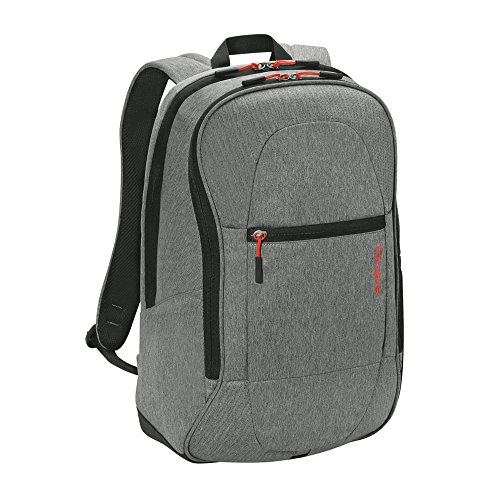 Targus Urban Travel and Work Commuter Laptop Backpack, Weather-Resistant College School Bag with Air Mesh Back Support, Sternum Strap, Protective Sleeve for 15.6-Inch Laptop, Gray (TSB89604US)